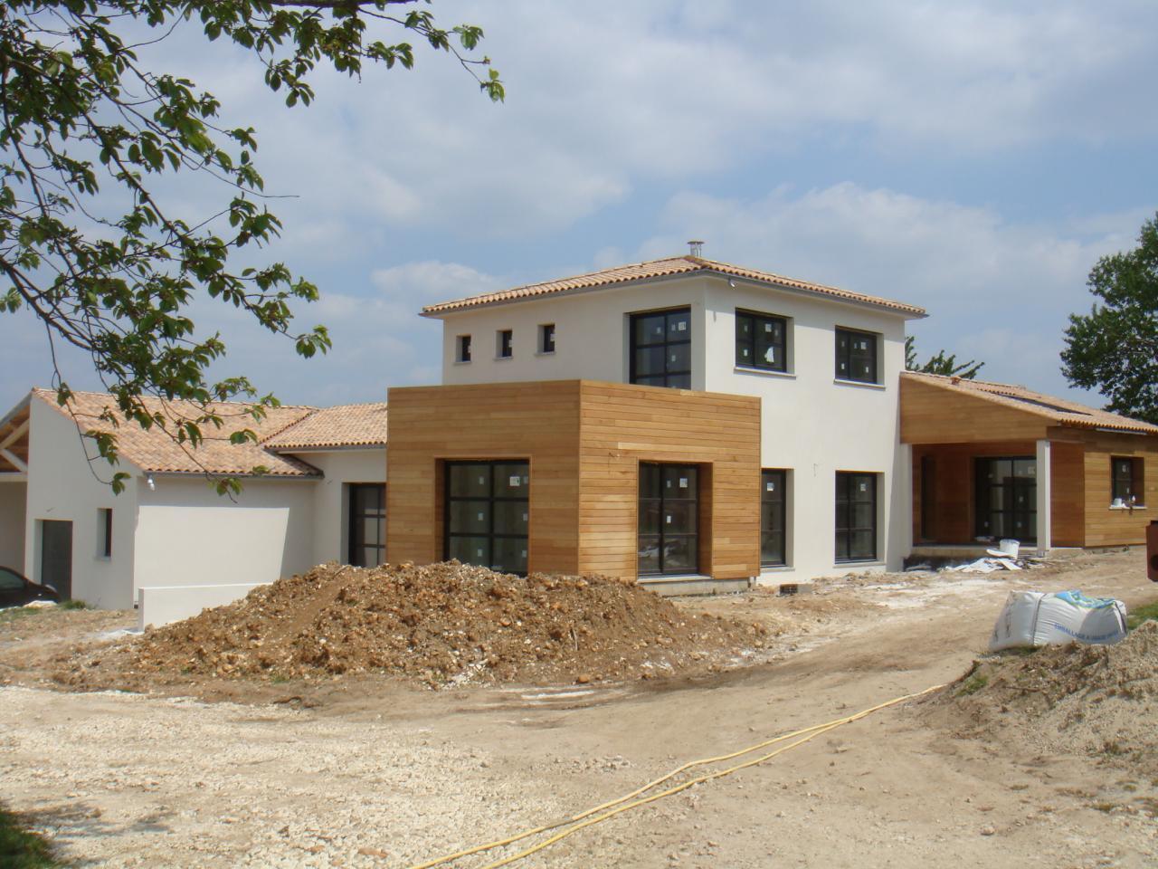 Photographie de la maison en cours de construction