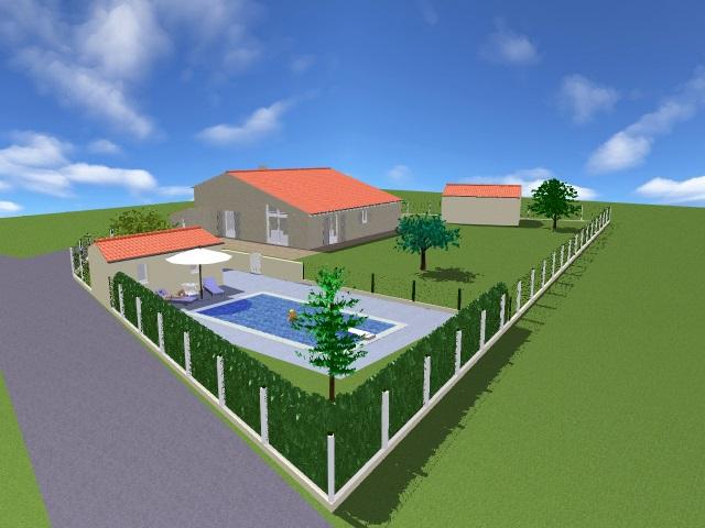 Projet 2 Vue espace piscine