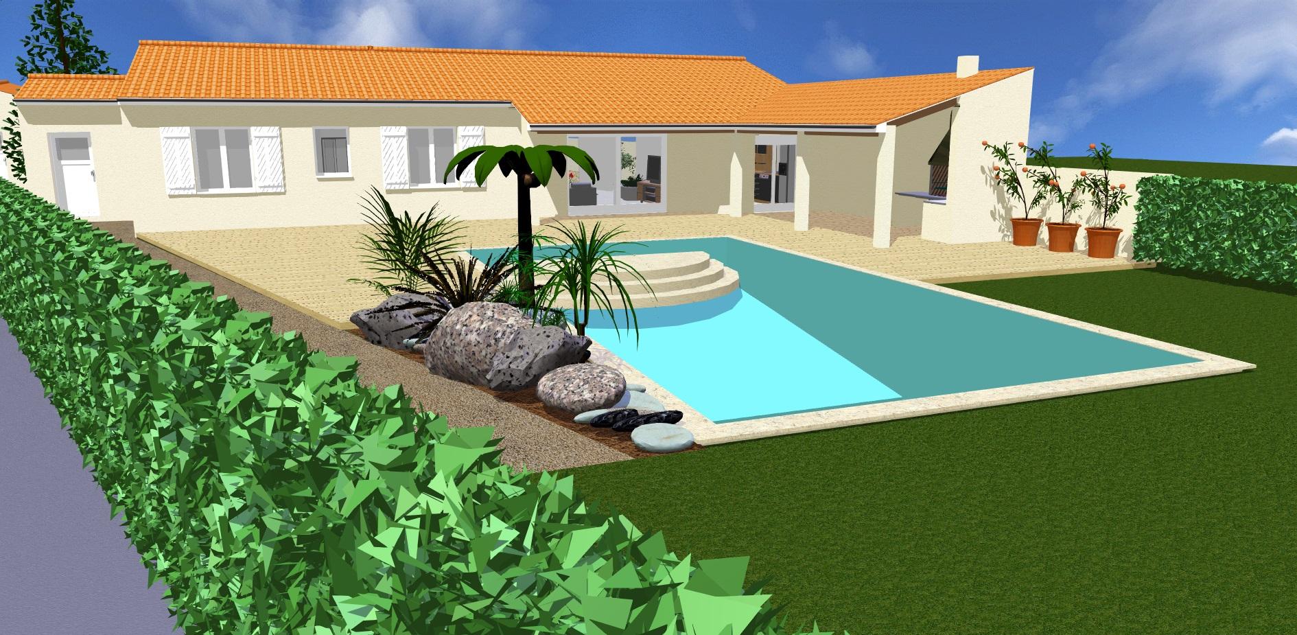 Projet 4 vue espace piscine