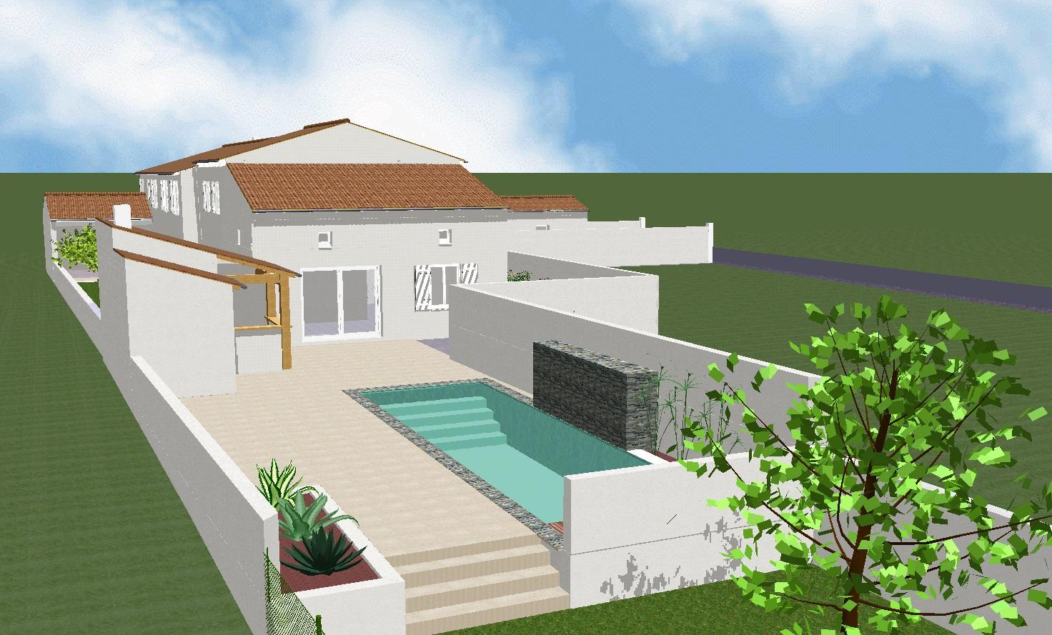 Projet 9 Vue aménagement piscine