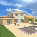 Maison mixte maçonnerie et bois